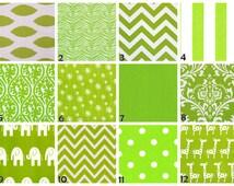 ZIPPER PILLOW COVER Green pillows, green nursery pillows, chartreuse pillow, green giraffe, green elephant, green euro sham, boy pillow-