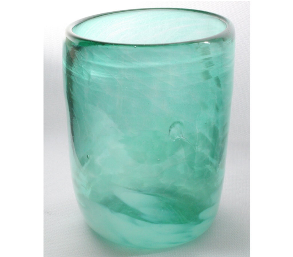 Glass Cup Green Cup Hand Blown Cup Opaque Green by ...