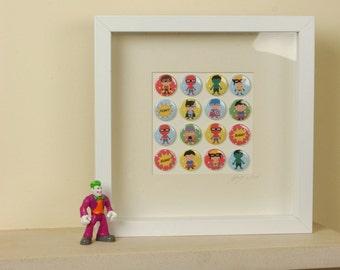 Boys Super Heroes Badge Frame