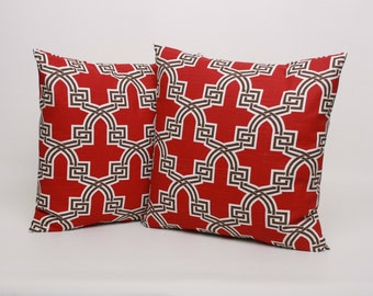 Red Throw Pillows Etsy : Red Throw Pillow Covers Set of 2, 16