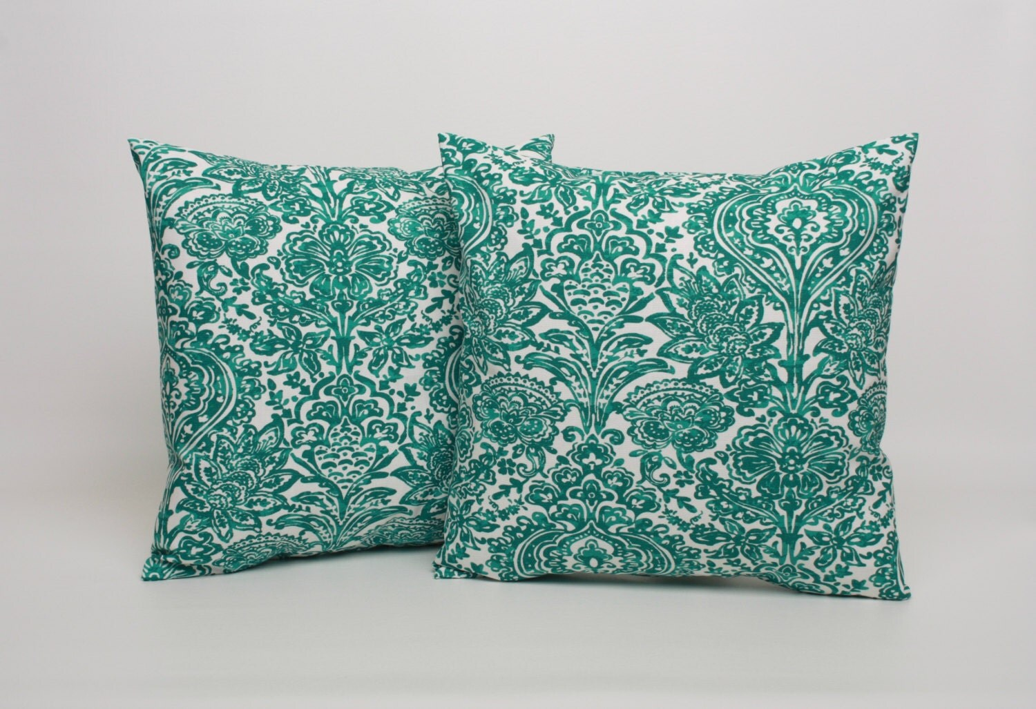 Jade Decorative Pillows : PAIR Jade Green Pillow Covers Designed to Fit 14 16 18 20
