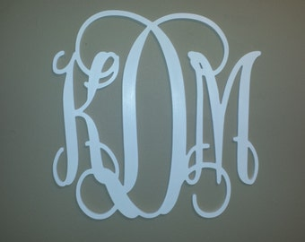 26 inch Painted Wood Monogram