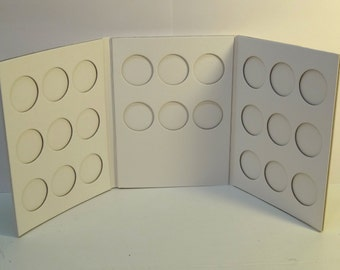Bazzill Coin Holder Scrapbook Album-White-Magnetic Cover-New-Discontinued