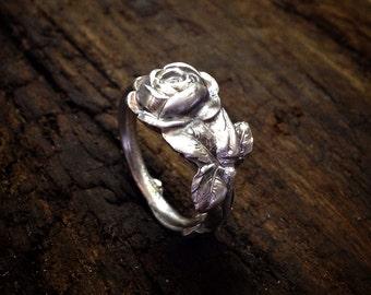 1928 Tea Rose Sterling Spoon Ring