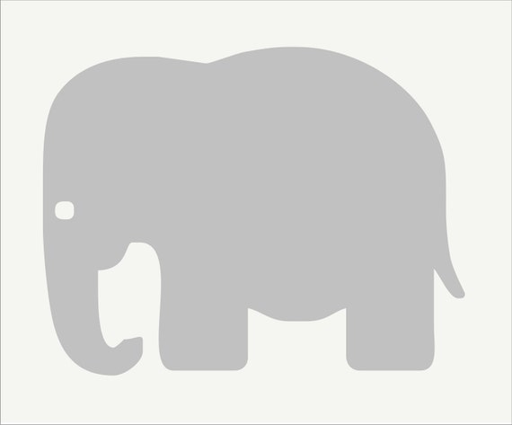 Nursery Stencils BABY Elephant 9 Wide x 7 by SuperiorStencils