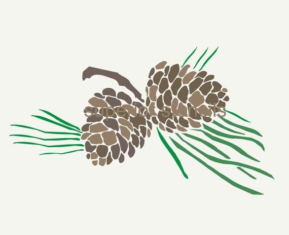 pine branch clip art