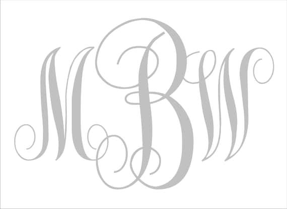 Declarative image in printable monogram stencil
