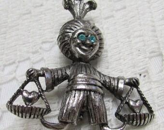 Vintage love genie pin brooch