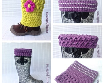 Crochet Pattern * X-Line Boot Cuffs Leg Warmers * Instant Download Pattern #463 * baby, toddler, child, teen, adult sizes * easy *