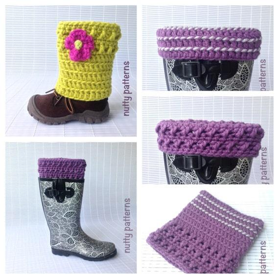 Crochet Pattern X-Line Boot Cuffs Leg Warmers Instant