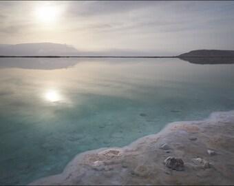 Sunrise at Dead Sea II - Color Photo Print - Fine Art Photography (IS11)