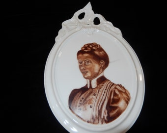 FEMALE PORTRAITURE PORCELAIN Wall Hanging