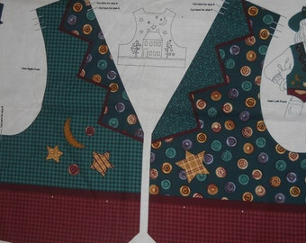 STARRY NIGHT Child's Hat and Vest fabric panel