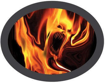 Pyro Flame Patch -- easily fix those jeans with the inside patch - not iron-on, dryer activated!