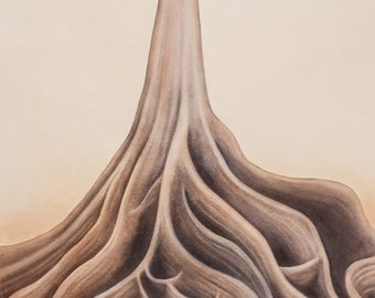 Mengaris Tree - archival print from original painting