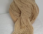 Ultra soft airy beige scarf - softtotouch