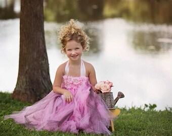 Flower girl Dress- Pink Flower girl dress- Pink Flower girl dresses- Tutu Dress