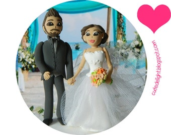 Polimer clay cake topper, Wedding Cake Topper-Romantic cake topper,CUSTOM cake topper, FUNNY cake topper, Wedding figurines, wedding topper