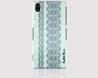 Sony Xperia Z2 Case - Lace & Mint (00016-Z2)