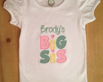 Big Sis Shirt or Baby Bodysuit