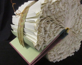 Altered Book Art Sculpture-Bound Bird