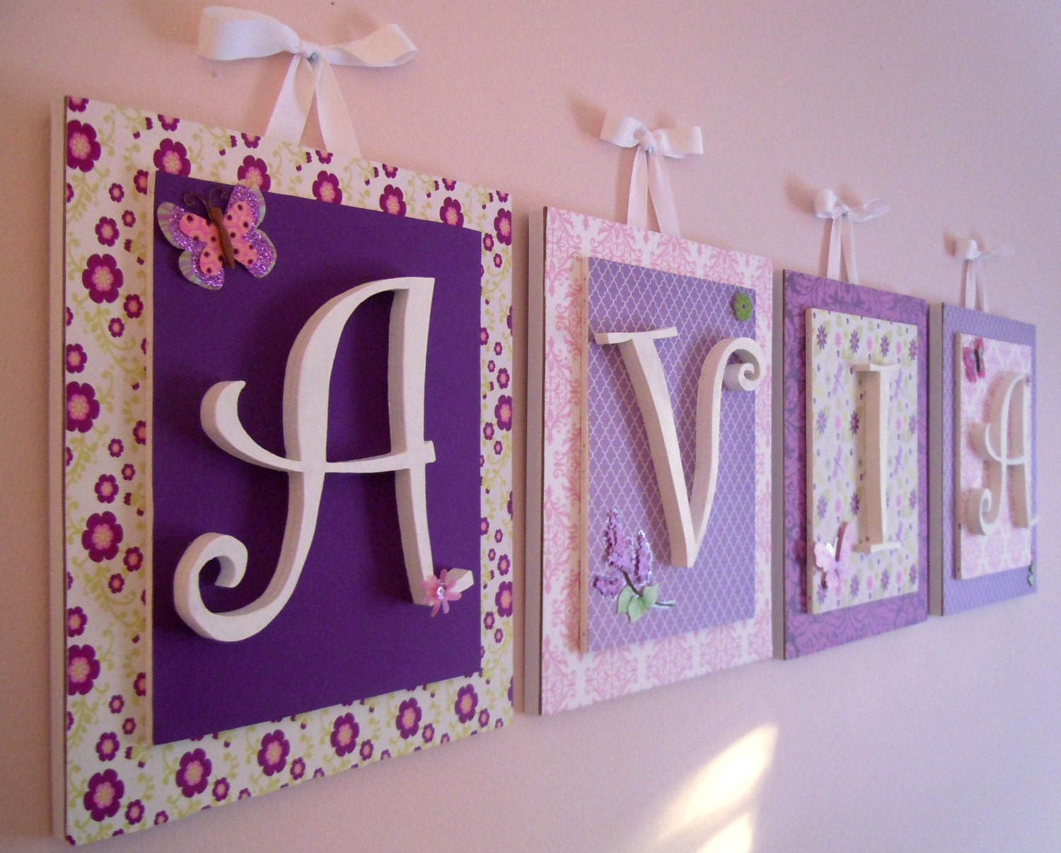 Nursery Letters Lambs And Ivy Butter Fly Lane Purple