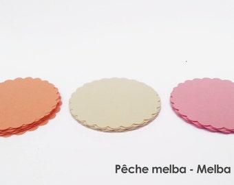 """30 - Scalloped Circles """"Melba Peach"""""""