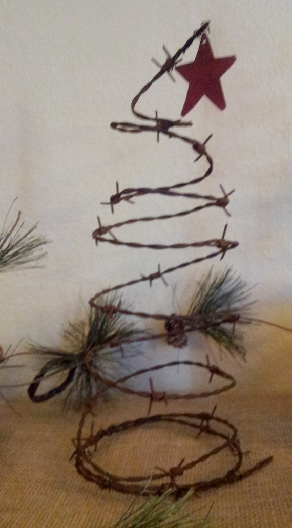 Barbed Wire Christmas Tree