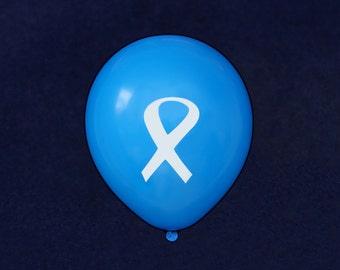 White Ribbon Balloons (50 Balloons) (BAL-15)