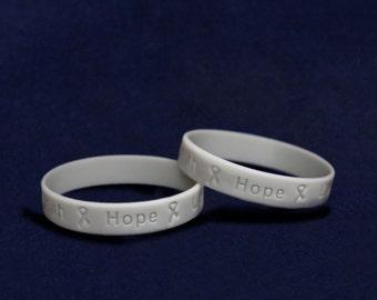 Wholesale Brain Cancer Awareness Silicone Bracelets - 50 Bracelets (SILB-7)