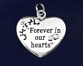Forever In Our Hearts Charm (RE-HRTCHARM-01F)