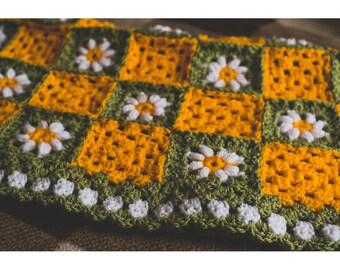 Sunshine and daisies crochet blanket