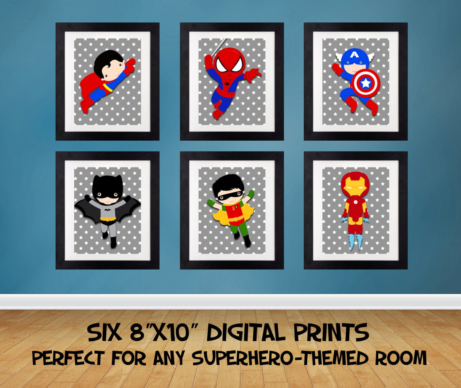 sale 25 off superhero wall art superhero posters bedroom. Black Bedroom Furniture Sets. Home Design Ideas