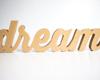Handcrafted Dream Wood Word Art