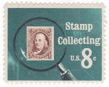 10 Unused Vintage Postage Stamps - 1972 8c Stamp Collecting - Item No. 1474