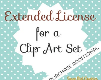 Extended License Clipart Clip Art Commercial Use Handdrawn