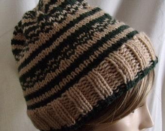 Hand Knit Fair Isle Hat FREE SHIPPING