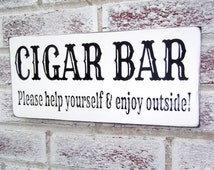 Wedding Signs Cigar Bar sign - country wedding, great gatsby wedding, anniversary party, birthday party, country chic wedding