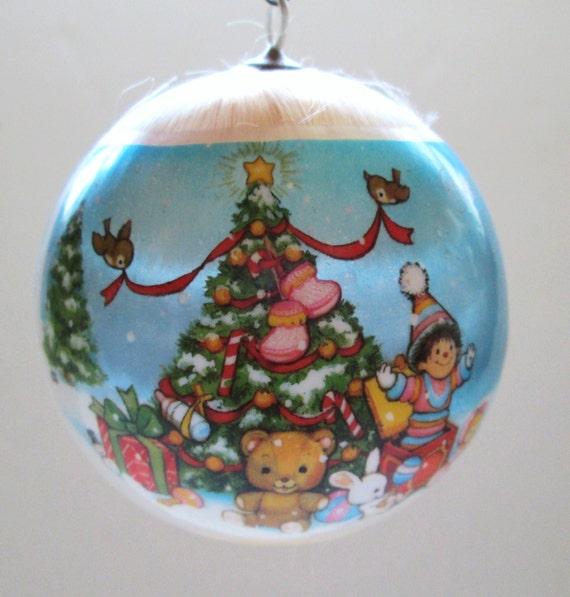Baby Christmas Trees: Hallmark Satin Ornament 1979 Baby's First Christmas Tree