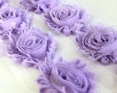 1 Yard Lavender Shabby Flower Trim, Wholesle Flowers, Shabby Chiffon Flowers, Shabby Rose Trim, Headband Supplies, Hair Bow Supplies