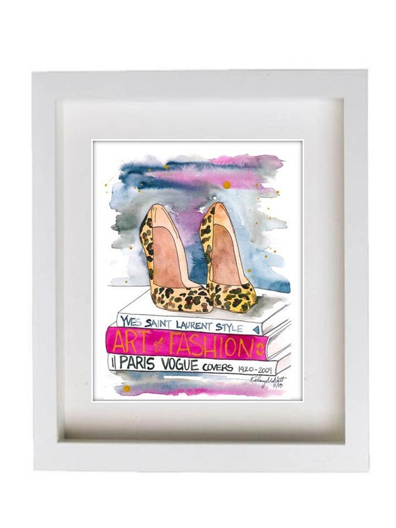 Items similar to Fashion Illustration Watercolor Painting ...