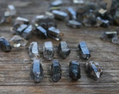 Double Terminated Tibetan Smoky Quartz Points - Set of 5