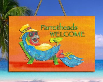 Parrotheads Welcome Sign