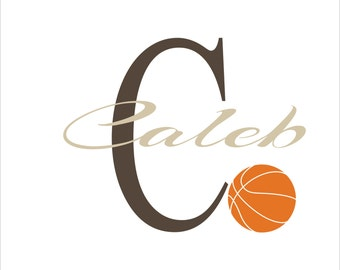 Basketball Decal Personalized N10