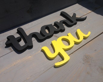 Wedding wooden thank you photo prop  sign. DIY, Painted or Glitter. Wooden letters thank you for wedding photo prop.