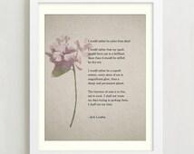 Poetry Print - Jack London - Quote Print