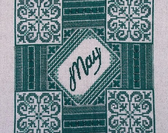 Birthstone Series: Emerald PDF Chart by Northern Expressions Needlework