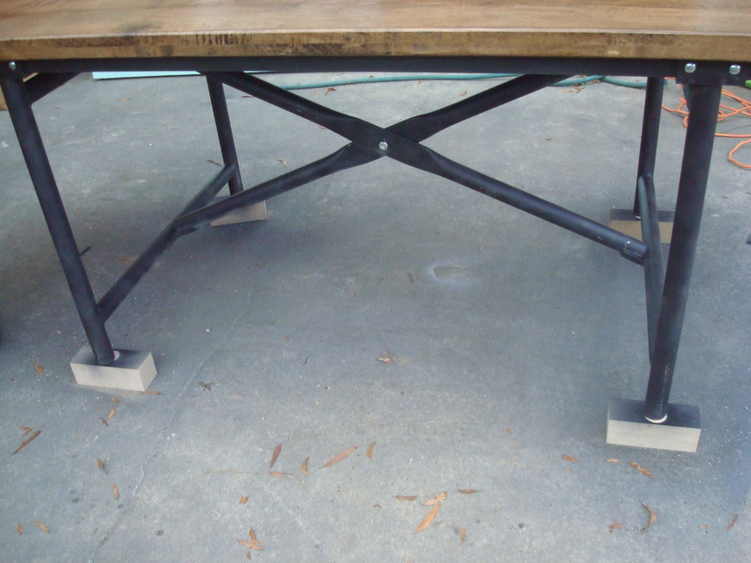 industrial metal table base by blueridgemetalworks on etsy