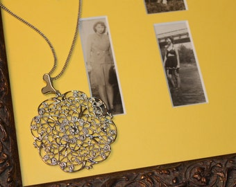 Fancy, Lacy Pendant with Heart