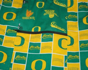 Drawstring Backpack Cinch Bag for the Gym, School or Vacation made from University of Oregon Ducks  Fabric
